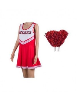 Red And White Cheerleader Costume
