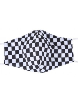 Chequered Flag 3 Layer Filtered Face Mask