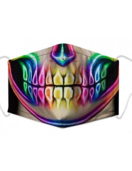 Neon Skull 3 Layer Filtered Face Mask