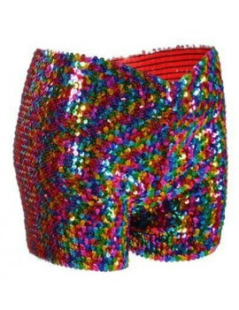 Rainbow Sequin Shorts