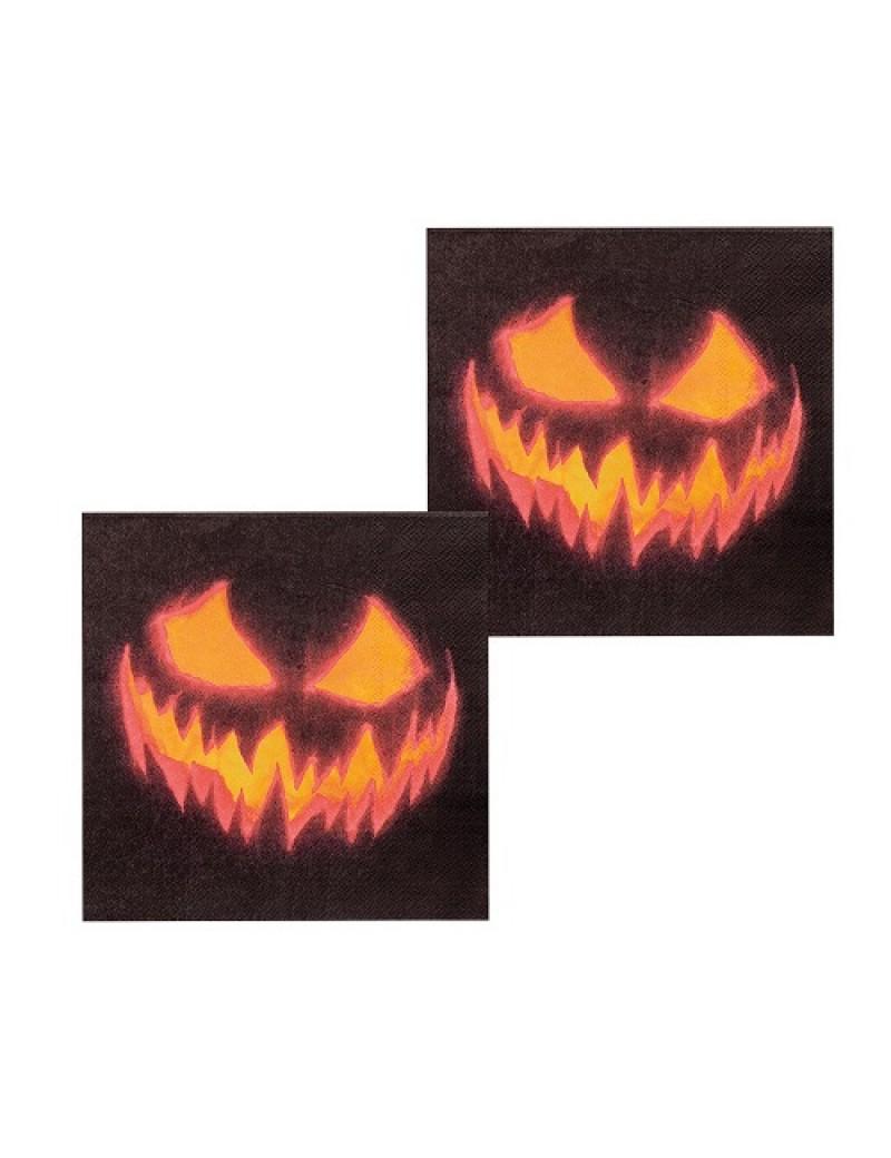 Creepy Pumpkin Paper Napkins