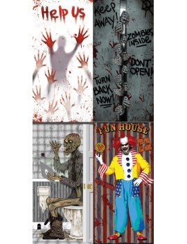 Halloween indoor outdoor decoration door covers Palmer Agencies 5960