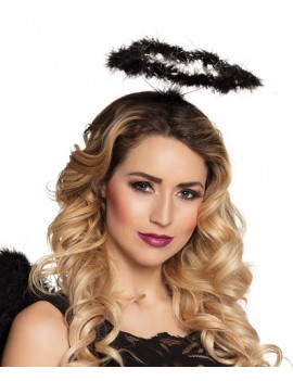 Angel Halo Marabou Fur Black And Silver