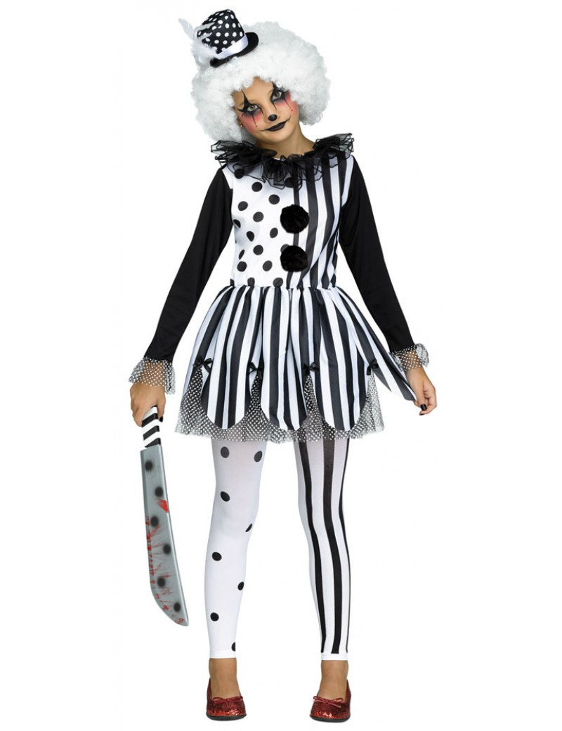 Killer scary clown girls Halloween costume Palmer Agencies 3675