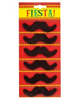 Mexican Fiesta Moustaches Pack Of 6