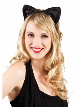 Cat Ears Black With Glitter