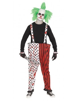 Killer Clown bloody hooped trousers and gloves set Palmer Agencies 3707