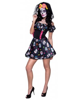 Mexican Day Of The Dead womans costume Boland 3101DM 3101DL