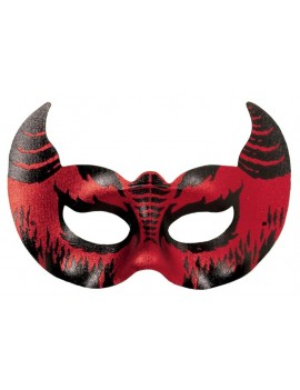 Devil Mefistofele red black eye mask Palmer Agencies 0575