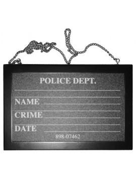 Police Mugshot Chalkboard