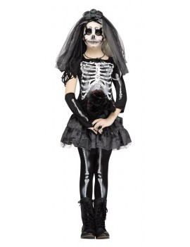 Skeleton Bride Child Costume Fun World 3666A 3666B