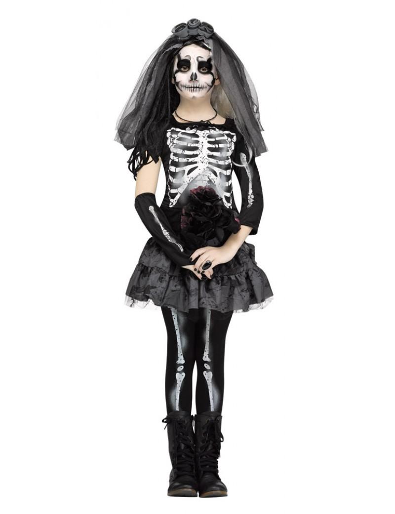 Skeleton Bride Child Costume Fun World 3666A 3666B