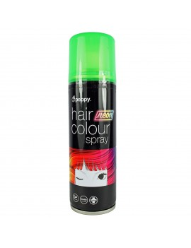 Coloured Hair Spray Neon UV Green Peppy