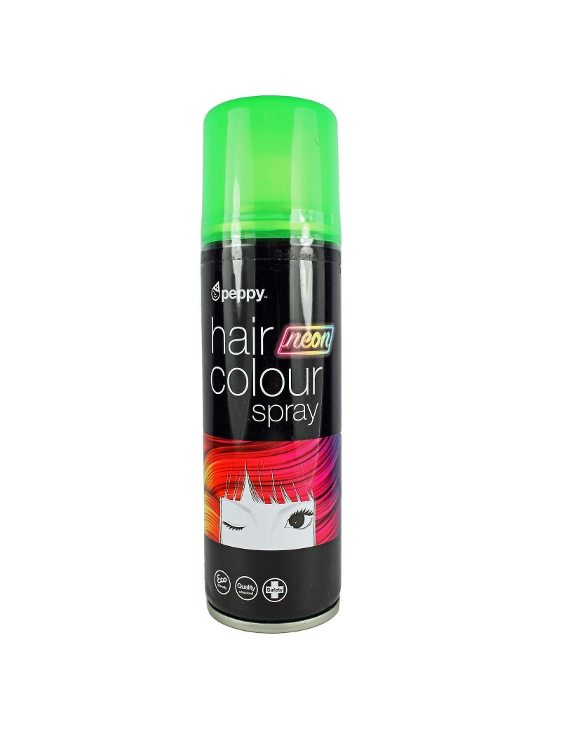 Coloured Hair Spray Neon UV Green