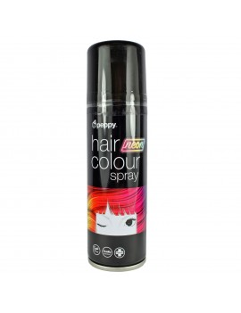 Coloured Hair Spray Neon UV Black Peppy