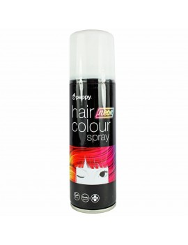 Coloured Hair Spray Neon UV White Peppy