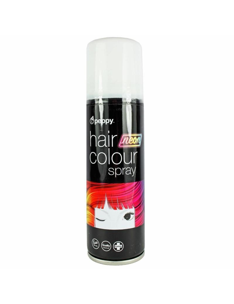 Coloured Hair Spray Neon UV White Peppy