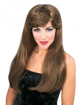 Glamour Wig Long Auburn brown