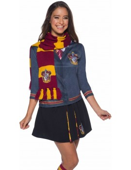 Harry Potter Deluxe Gryffindor Scarf With House Badge