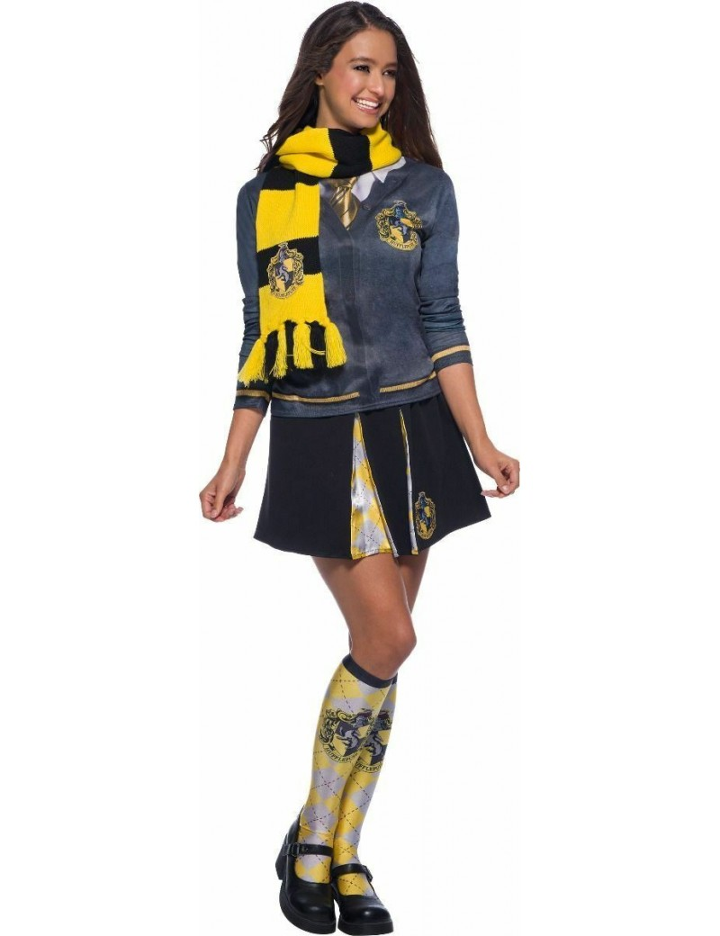 Harry Potter Deluxe Hufflepuff Scarf With House Badge