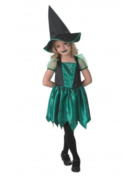 Green Spider Witch girls costume Rubies 610253