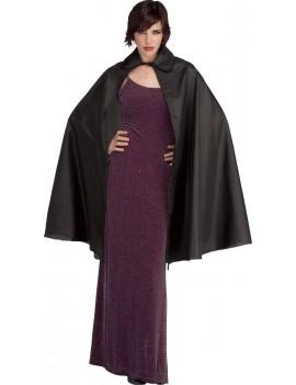 "Vampire taffeta cape black 45"" Rubies 16205"