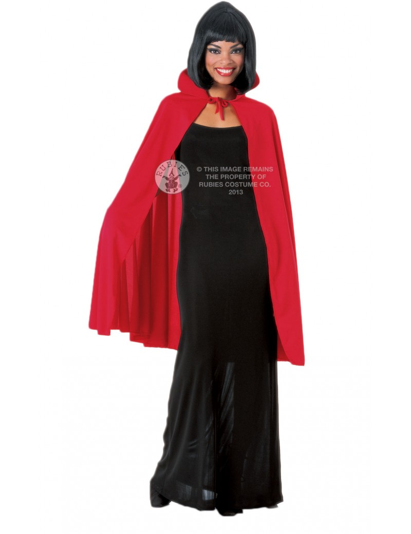 """Vampire Deluxe Cape Red 45"""" Rubies 850"""