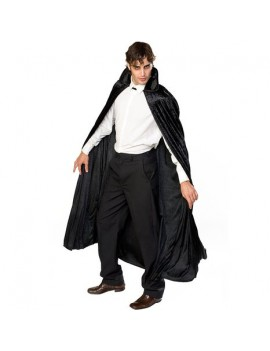 Vampire Crushed Velvet Cape Black Long