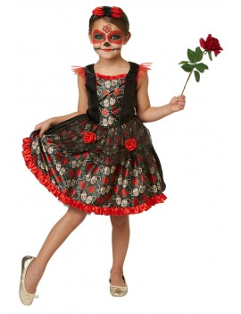 Red Rose Day Of The Dead girls costume Rubies 630709