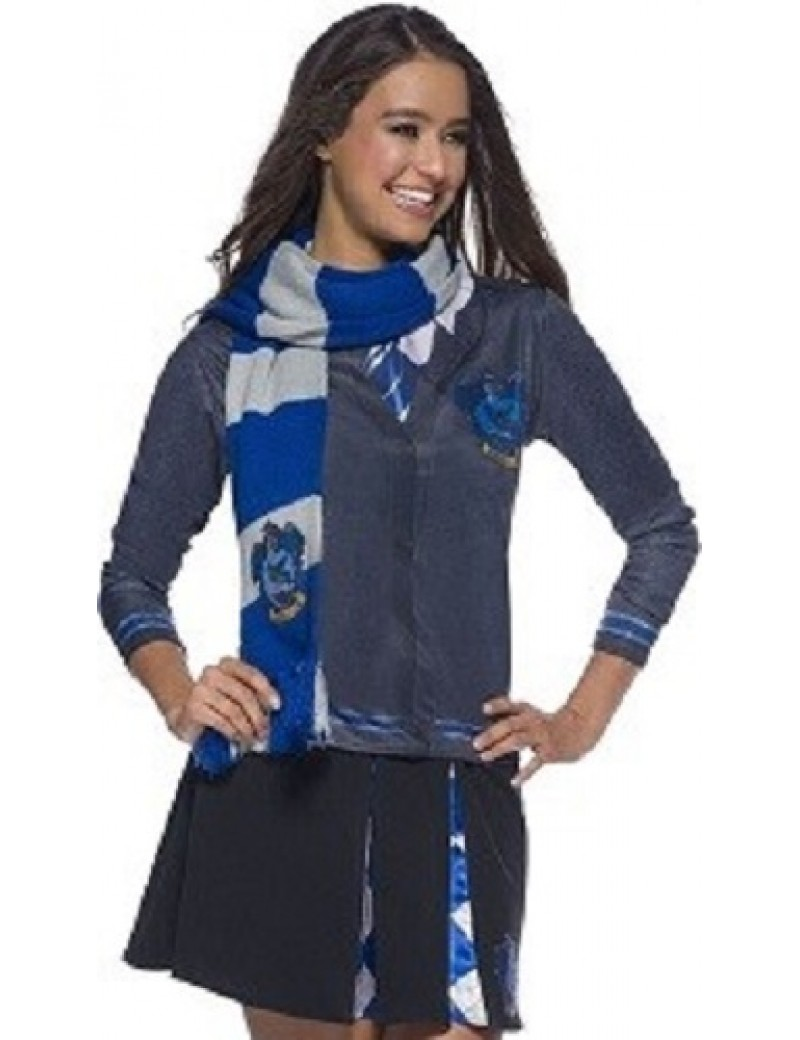 Harry Potter Deluxe Ravenclaw Scarf With House Badge