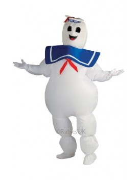 Inflatable Ghostbusters Stay Puft Marshmallow man costume Rubies 889832
