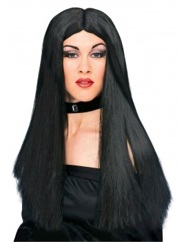 "Witch fringeless black wig 24"" Rubies 50700"