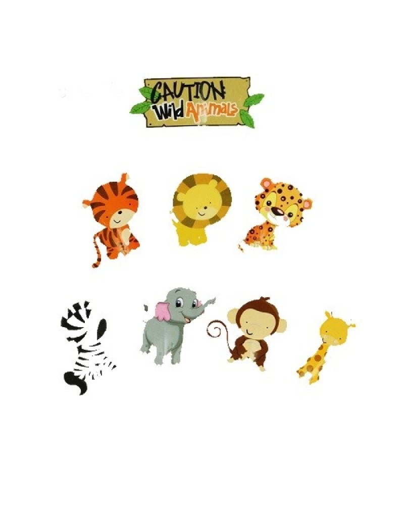 Wild Animal Cupcake Toppers