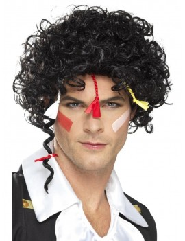80s Adam Ant New Romantic Wig Black Smiffys 44644