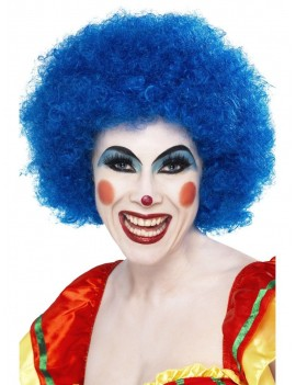 Afro Wig Blue Smiffys 42083