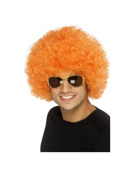 Afro Clown Wig Orange