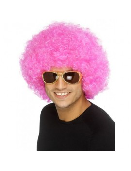 Afro Wig Pink Smiffys 42086