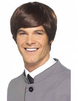 60s Male Mod Wig Brown Smiffys 43234