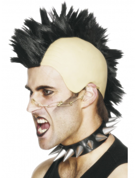 Punk Mohican Wig Black Smiffys 42210