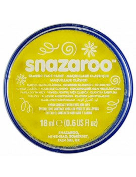 Snazaroo Classic Face Paint Bright Yellow 18ml