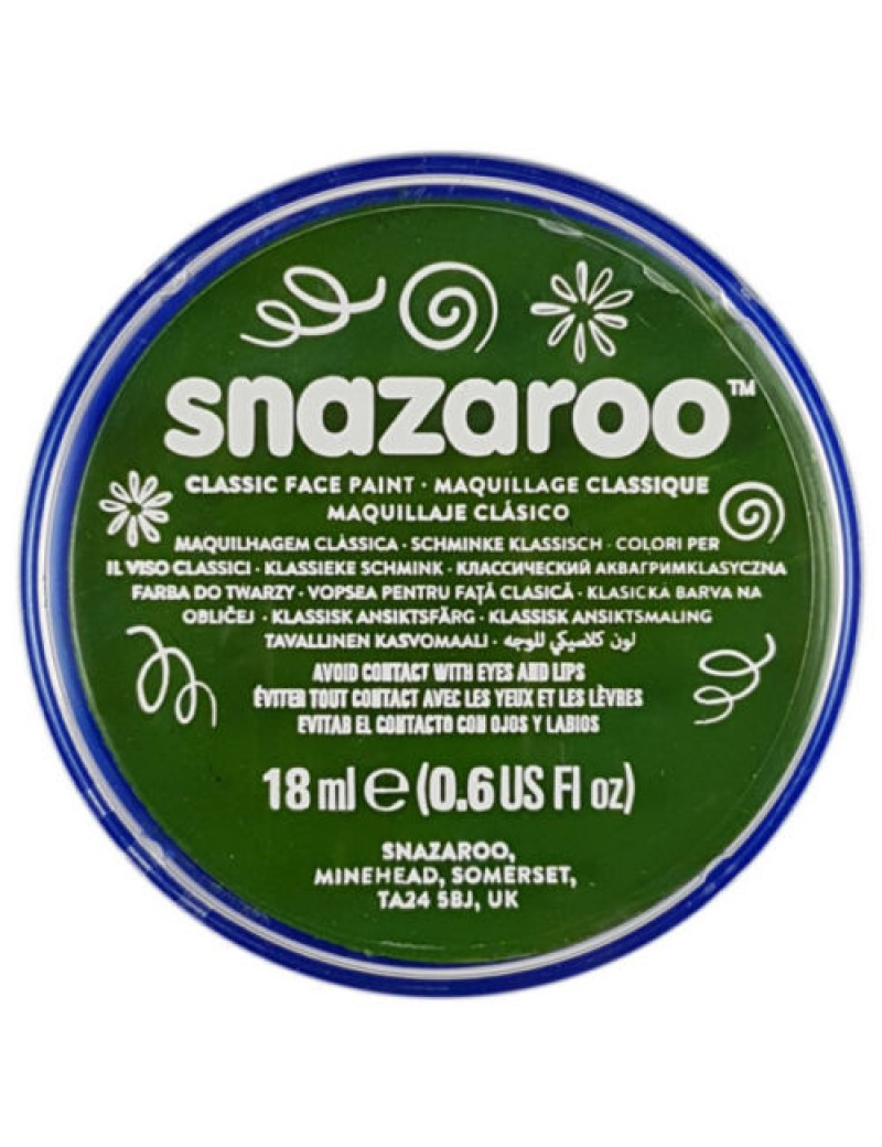 Snazaroo Classic Face Paint Grass Green 18ml