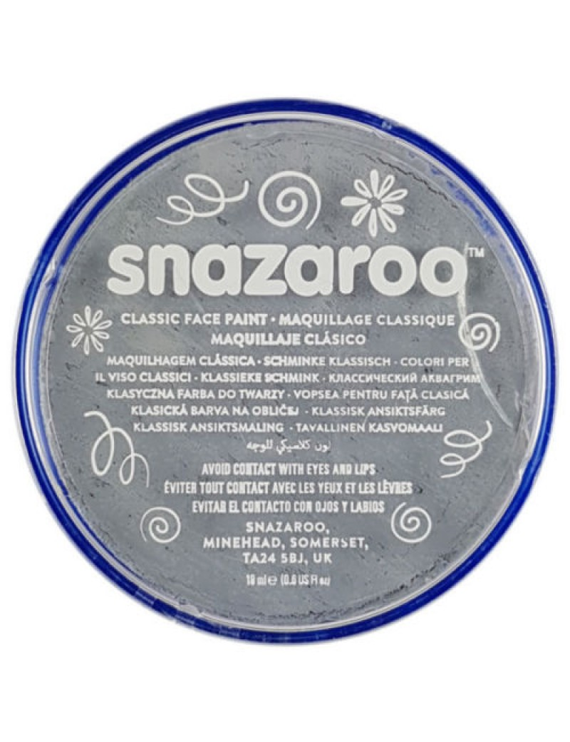Snazaroo Classic Face Paint Light Grey 18ml