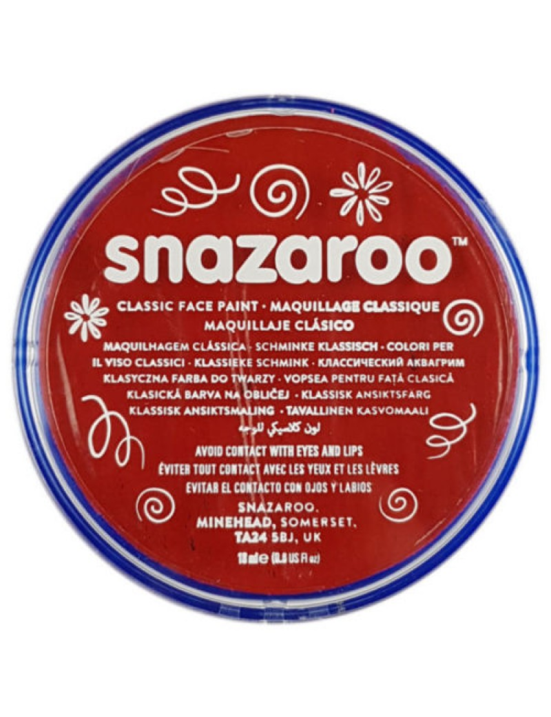 Snazaroo Classic Face Paint Red 18ml