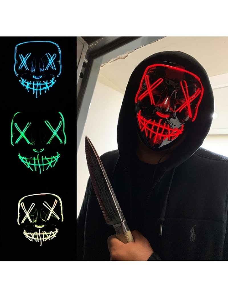Neon Light Up Stitch Smile Mask