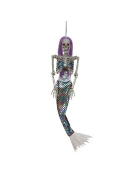 Skeleton Mermaid Animated Hanging Decoration