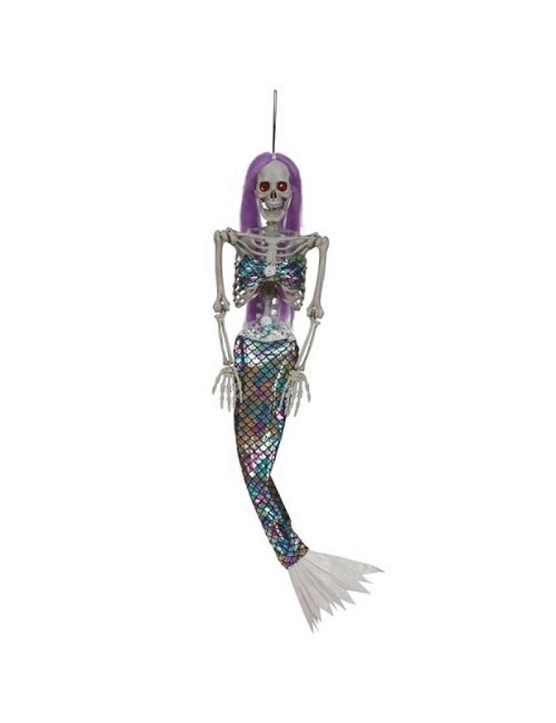Skeleton Mermaid Animated Hanging Decoration
