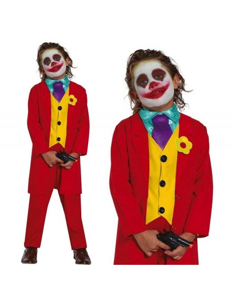 Mr Smile Joker Clown Kids Costume XL
