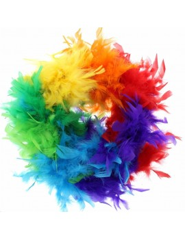 Feather Boa Gay Pride Rainbow Multicoloured Stylex Party ST4896
