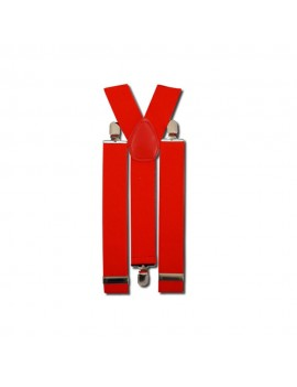 Braces Red Clip On Suspenders Stylex Party ST0829