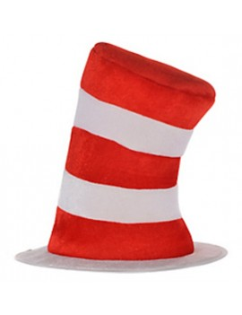 Cat in The Hat Red And White Striped Top Hat